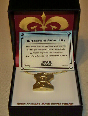 Star Wars Celebration Chicago 2019 Toynk Exclusive Japor Snippet Necklace Padme