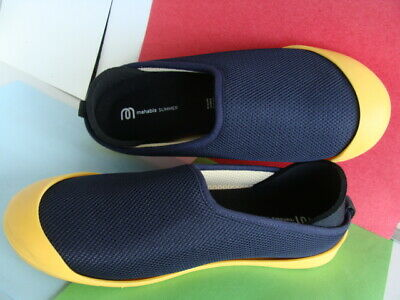 64049ee3407 MAHABIS Summer Slippers Wo s Size EU 39 ~ Navy Upper Yellow Rubber Sole  NWOB  99
