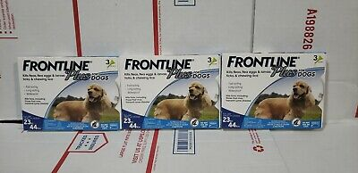 Merial Frontline Plus For Dogs 23-44Lbs Lot Of 3 3 Pack Boxes 9 Total Brand New