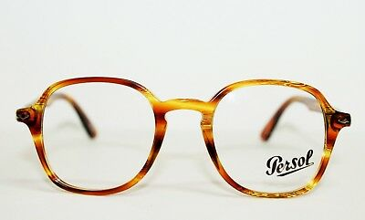 e68632ac50 New Persol Po3142V 1050 Striped Yellow Authentic Eyeglasses Po 3142 Rx 45-21 -145
