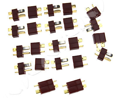 10pcs Brass Deans Ultra T Plugs Connector Male & Female For RC Lipo Battery