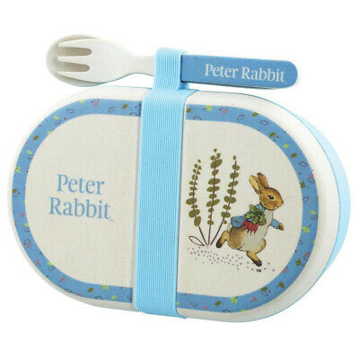 NEW Beatrix Potter Peter Rabbit Snack Box With Cutlery Set