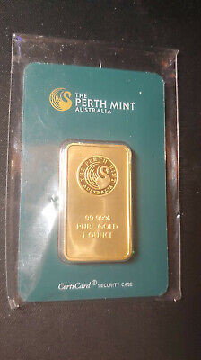 Perth Mint Australia 1 oz. Gold Bar Sealed w/Assay Cert(PRISTINE CONDITION)