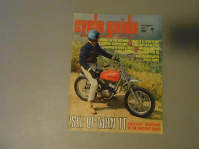 CYCLE WORLD MAGAZINE-SEPT 1967-ISLE OF MAN-GREEVES 360-750