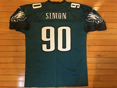 0ea092cd63b Vtg Reebok COREY SIMON #90 Jersey Philadelphia Eagles Mens Adult XL Green