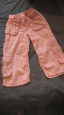 NEXT linen trousers,8yrs,new no tag,pink