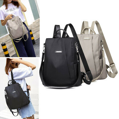 Waterproof Nylon Oxford Cloth Women Travel Backpack Anti-theft Shoulder Rucksack