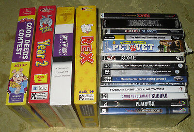 18 Games And Software Per  Pc Cd-Rom Windows In Inglese - English