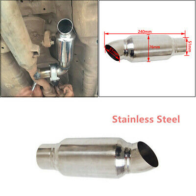 BLACK METAL EXHAUST Muffler Tip Pipe Modified Silencer for
