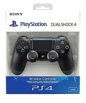 PS4 DualShock 4 Controller Black V2 BRAND NEW SEALED OFFICIAL-FREE POST