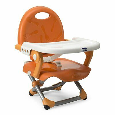 Chicco Pocket Snack Booster Seat Baby Feed High Chair Removable Tray - Mandarino