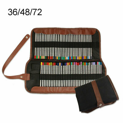Pencil Drawing Sketching Pencils Case Holder Pouch 36 48 72 Slots Protector UK