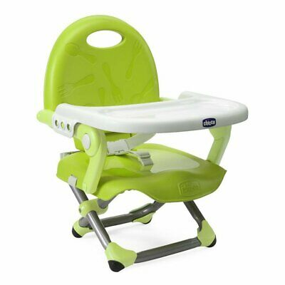 Chicco Pocket Snack Booster Seat Baby Feed High Chair Removable Tray - Lime