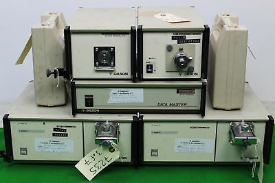 Gilson HPLC System Modules Data Master 621 Pumps 306 Dynamic Mixer 811B + more