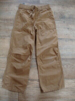 M&S Indigo Collection Girls Brown 100% Cotton Trousers size 8 years