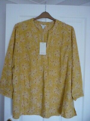 Monsoon Corine Yellow Pink Red Floral Long Line Top Uk 12, Eur 40, Us 8. Bnwt.
