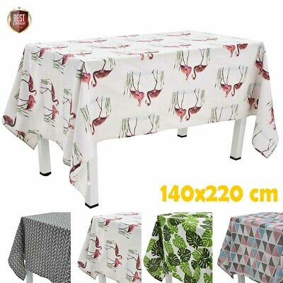 140x220cm Fabric Tablecloth Tablecover Table Cloth Cover Tableware Washable CHIC