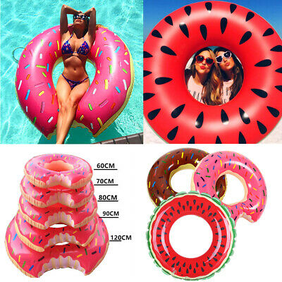 Kids Adult inflatable Donut Rubber Ring Pool Float Lilo Toys Doughnut Dohnut UK