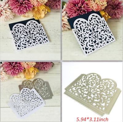 Heart Lace Envelope Metal Cutting Dies Scrapbooking Embossing Card Crafts Decor