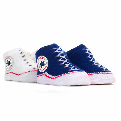 Converse Chuck Taylor All Star Baby Sock Booties (2 Pack) - C.Blue/White