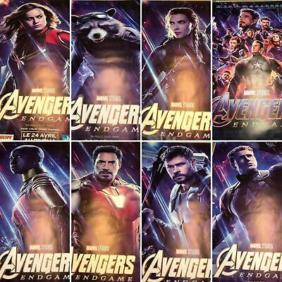 Avengers Endgame Set of 8 Movie Poster 4x6 Double Sided Extremly Rare BusShelter