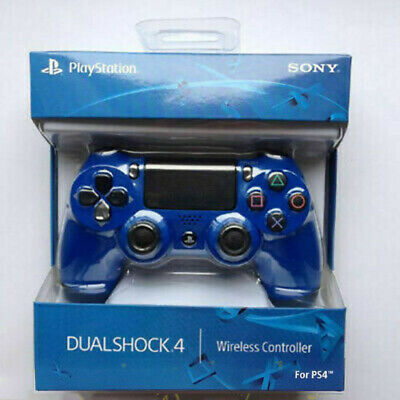 UK OFFICIAL SONY PlayStation DualShock 4 V2 Wireless Controller - Blue -Sealed