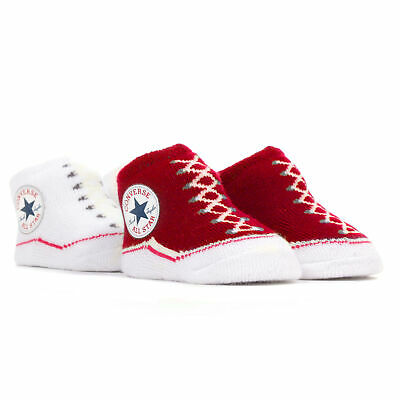 Converse Chuck Taylor All Star Baby Sock Booties Set (2 Pack) - Red/White