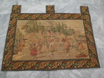 5020 - Old French / Belgium Tapestry Wall Hanging - 94 x 140 cm