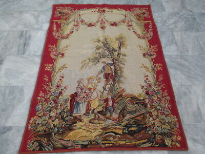 5030 - Old French / Belgium Tapestry Wall Hanging - 142 x 100 cm