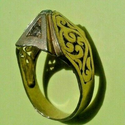 ANCIENT Rare Medieval Massive BRONZE Ring VIKING Superb museum quality EXTREMELY