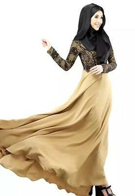 cheap Women Dubai Style Beautiful design  Abaya Islamic with Lace