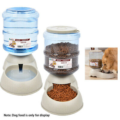 1pc Automatic Pet Food Drink Dispenser Dog Cat Feeder Water Bowl Dish 3.75L