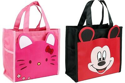 Women Girls Hello Kitty Micky Waterproof Carry Tote Lunch Box Small Carry Bag