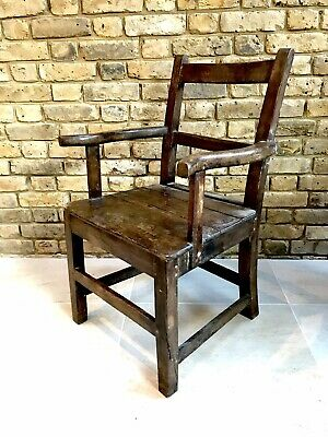 Antique Early Welsh Oak Armchair c.1800