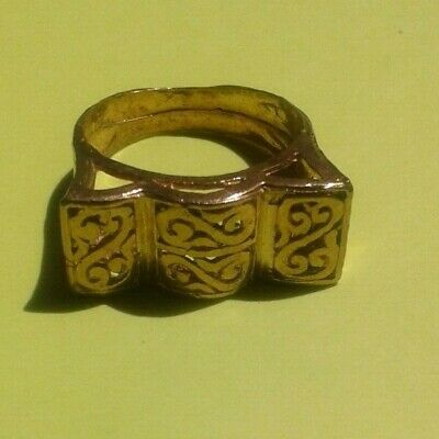 EXTREMELY RARE Ancient RING VIKING BRONZE museum quality artifact VERY Stunning