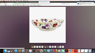 emma bridgewater 10'' fluted wallflowers serving bowl new 1st quality boxed