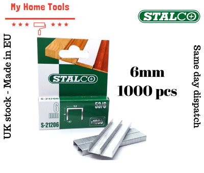 1000pc 6mm STAPLES 53A Pack Duty Gun Tacker Staple Upholstery Galvanised Craft