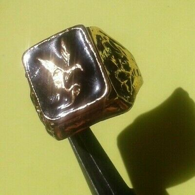 EXTREMELY RARE Ancient eagle RING VIKING BRONZE EAGLE museum quality artifact