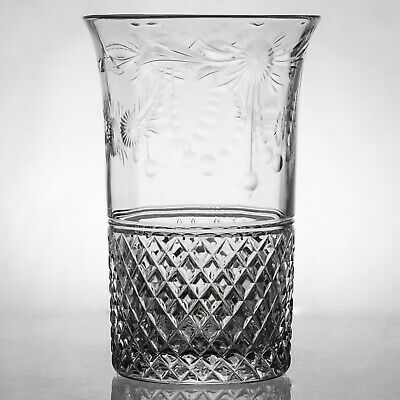 Beaconsfield Pattern 9 Tumblers / Glasses - Bohemian Made - unmarked