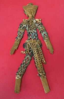 Good Large Indonesian Bali Balinese Coin Wealth Doll Made Of Chinese Metal Coins