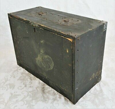 Vintage WWII Era Wood US Army Military Tool Box