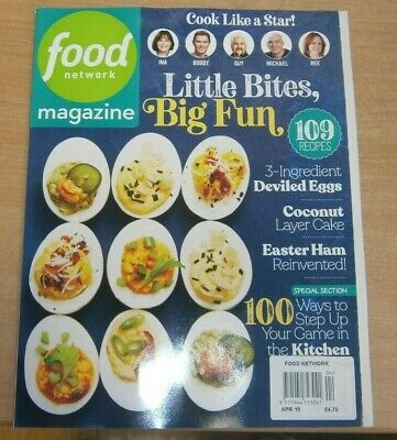 Food Network magazine Apr 2019 Little Bites Big Fun Devilled Eggs, Easter Ham