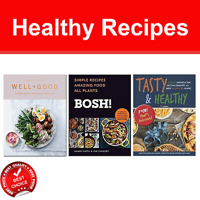 Tasty and Healthy Recipes books set Well+Good, BOSH Simple Recipes Amazing Food