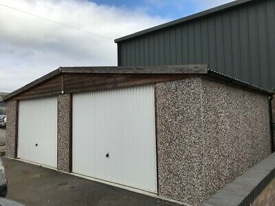 double prefabricated garage, only used as storage
