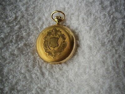 A Late 19Th Century 14 Ct Rose Gold Remontoir Cylindre 10 Rubis Lady's Stem