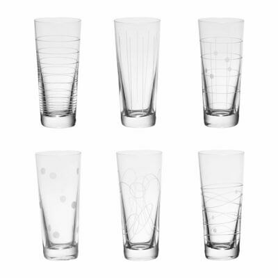 TABLE PASSION - COFFRET DE 6 VERRES DEGUSTATION SHOT 9 CL GRAPHIKCristal4,5 cm c