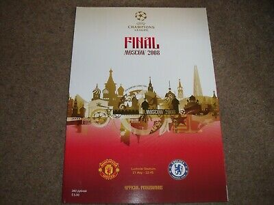 2008 Uefa Champions League Final Manchester United V Chelsea Programme 21St May