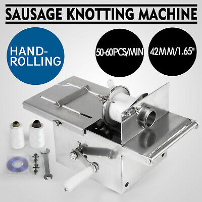 42mm Sausage Tying Knotting Machine Manual Commercial Kitchen Equipment Salami