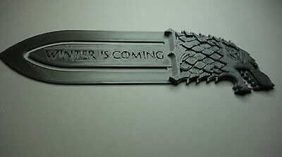 Game Of Thrones BOOKMARK House Stark (Direwolf) Silver