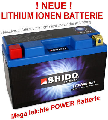 Batterie Lithium-Ion SHIDO Ytx12-bs Super Ultra-Léger Motorsport de Course Moto